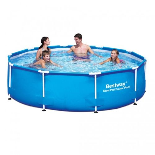 Piscina Steel Pro Bestway cadru metalic rotunda 305 x 76 cm