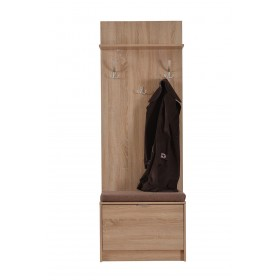 Cuier Clara,cu pantofar 1 usa, stejar, 67x192x35cm