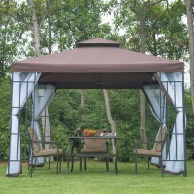Pavilion gradina Adria 3mx3m xInaltime 2,65m, pereti laterali