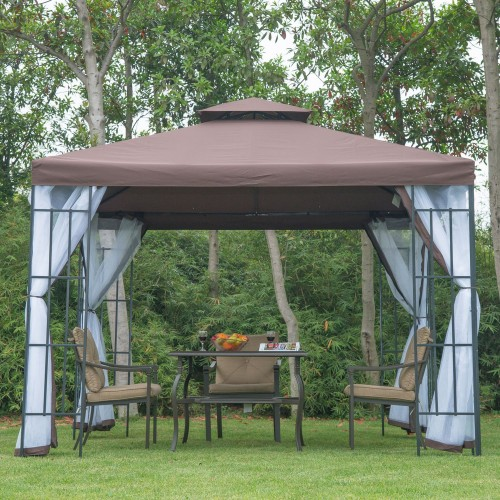 Pavilion gradina Adria 3mx3m xInaltime 2,65m, pereti laterali - Hitmag.ro