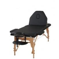 Pat masaj portabil, cadru lemn, Certusa, negru, 3 zone