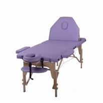 Pat masaj portabil, cadru lemn, Certusa, mov, 3 zone